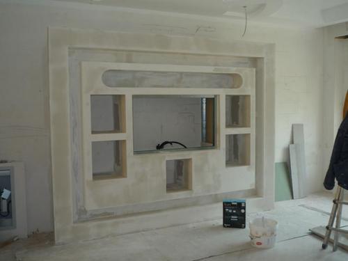 Cartongesso realizzazione di pareti attrezzate nuova for Immagini pareti attrezzate in cartongesso