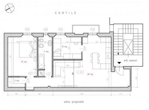 Ristrutturare appartamento 70 mq - Progetto casa 70 mq ...