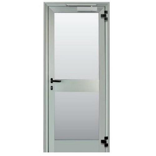 2 porte in vetro e alluminio con apertura antipanico a milano zona centro - Porte interne alluminio e vetro ...