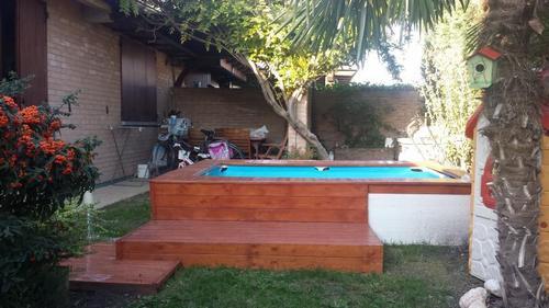 Piscina fuori terra in legno lamellare maggi carlo - Piscinas desmontables 3x2 ...