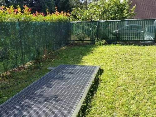 creare una pavimentazione modulare in un giardino di 15 mq