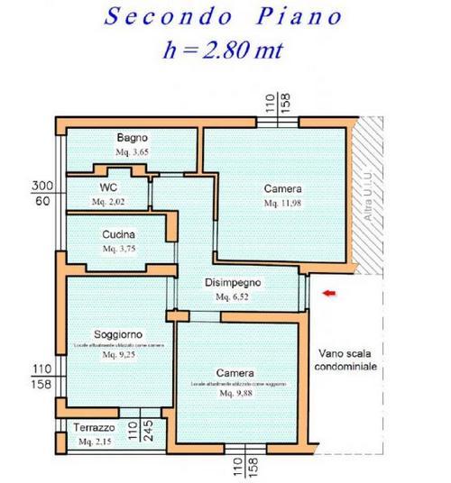 Ristrutturare un appartamento anni 60 di 62 mq commerciale for Ristrutturare appartamento 75 mq