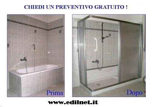 Costo sostituzione vasca con doccia